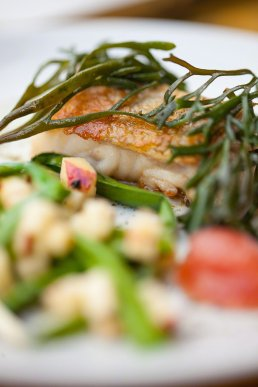 Photograph of Gardeners Cottage restaurant seafood dish.