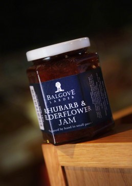 Product photograph of Balgove Larder Rhubarb & Elderflower Jam.