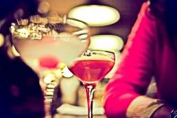 Photograph of colourful cocktails in an Edinburgh cocktail bar.