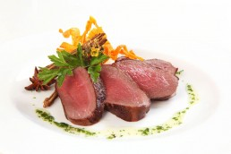 Photograph of tender deer loin fillet.