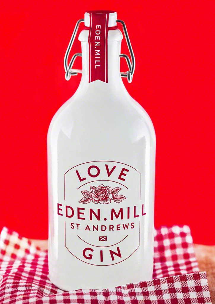 Product photograph of St. Andrews made Eden Mill gin.