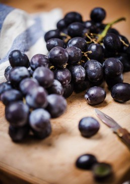 Photograph of fresh juicy grapes.