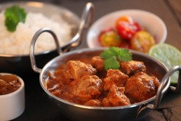 Photograph of creamy chicken tikka masala from Donald Russell butchers.
