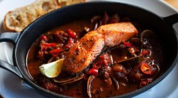 Succulent and spicy salmon fillet stew from Loch Fyne